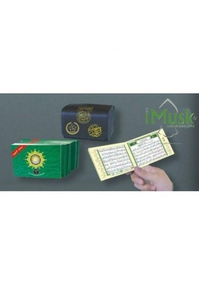 Pochette contenant l'intégralité du Saint Coran en 30 livrets avec règles de Tajwid ( lecture hafs )