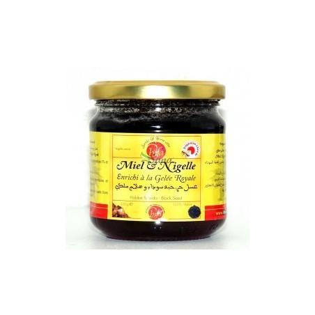 Miel & Nigelle enrichi à la Gelée royale 250g– Chifa- خلطة العسل الحر الحبة السوداء و الهلام الملكي 250 غرام - الشفا