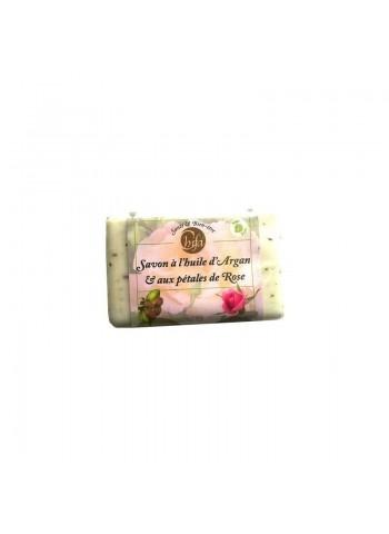 Savon à l'huile d'Argan & aux pétales de Rose