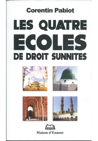 Les quatre écoles de droit sunnite de Corentin Pabiot