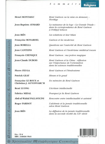 René Guénon, l'éveilleur 1886-1951. connaissances des religions